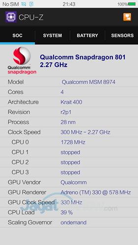 Vivo X3s - CPU