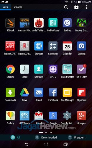 ASUS Fonepad 8 - App Drawer