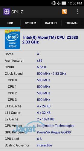 ASUS Zenfone 2 - CPUZ CPU