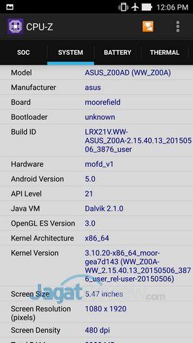 ASUS Zenfone 2 - CPUZ SoC