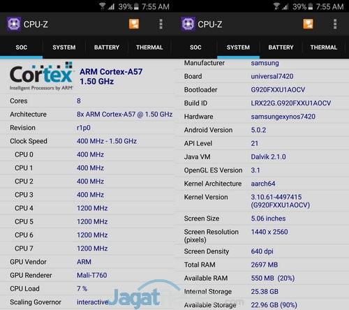 Galaxy S6 CPU Z
