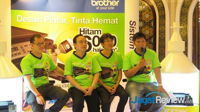 ... Jakarta, selain mengikuti acara peluncuran tiga printer inkjet multifungsi terbaru dari Brother, yaitu tipe DCP-T300, DCP-T500W, dan DCP-T700W, ...