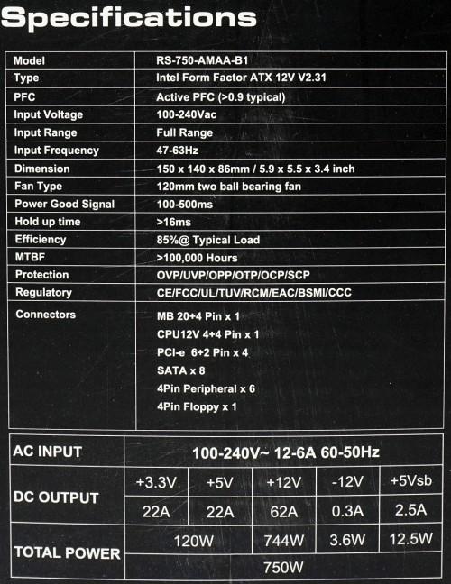spesifikasi CM G750M