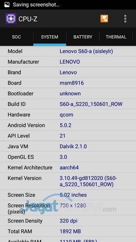 Lenovo S60 Launch - Board