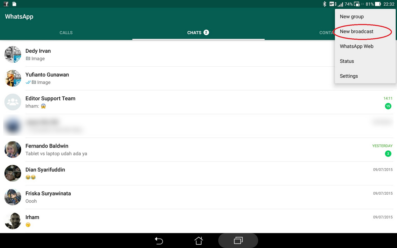Tips Mengirim Broadcast Ucapan Undangan Dengan Whatsapp Jagat