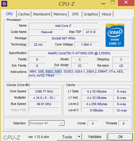 Xenom Pegasus PS15C-BN12 (2015) CPUZ 02