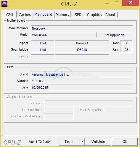 Xenom Pegasus PS15C-BN12 (2015) CPUZ 03