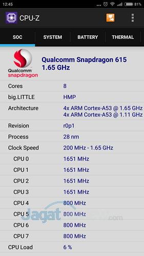 Xiaomi Mi 4i - CPU