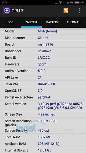 Xiaomi Mi 4i - SoC