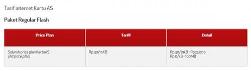 tarif internet kartuAS