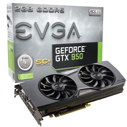 EVGA GTX 950 SUPERCLOCKED+ ACX 2.0 1165 1355 6610