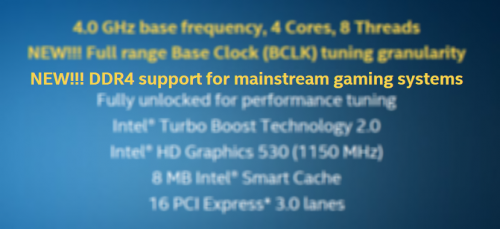 Intel Skylake - DDR4 on Mainstream Gaming Platform