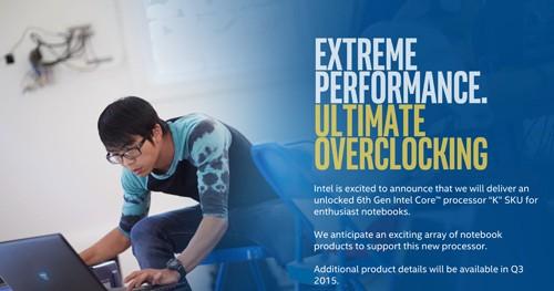Intel Skylake Processor Overclocking Notebook