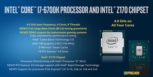 Intel Skylake Processor i7 6700K
