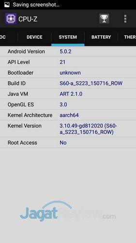 Lenovo S60 - CPUz Software