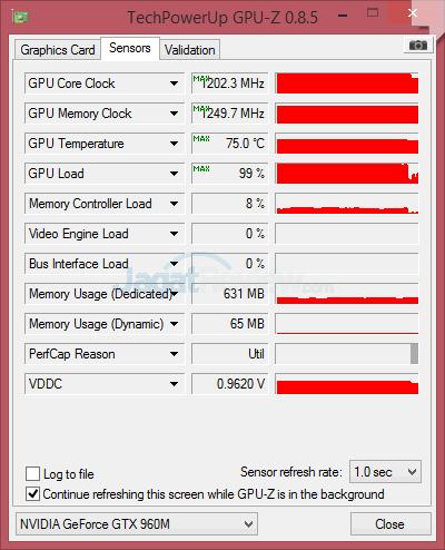 NVIDIA GTX 960M GPUZ 02