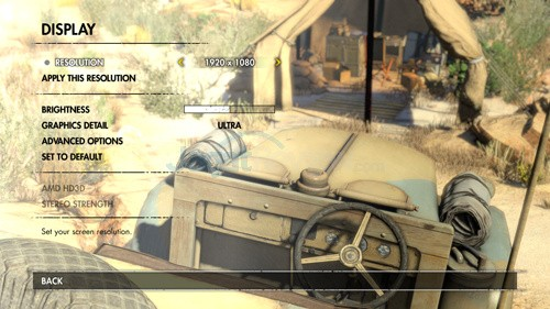 Sniper Elite 3 Setting