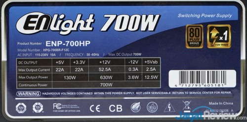 Enlight 700 watt 19