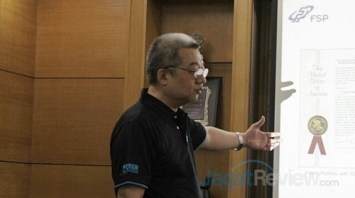 Seon Wu, dari FSP, saat memberi penjelasan terkait filosofi perusahaan.