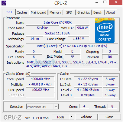 Gigabyte Z170X-Gaming G1 CPUZ 01 ECO