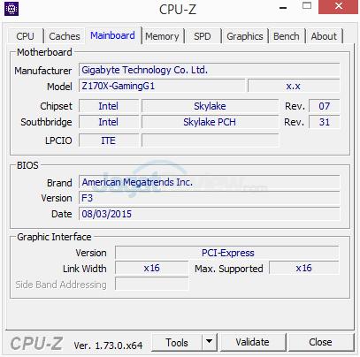 Gigabyte Z170X-Gaming G1 CPUZ 07