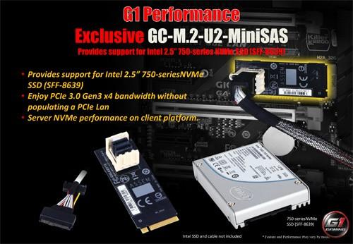 Gigabyte Z170X-Gaming G1 GC-M2-U2-MiniSAS