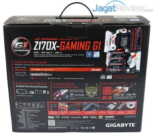 Gigabyte Z170X-Gaming G1 Rear Side Box
