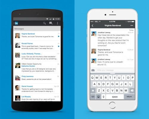LinkedIn+messaging+mobile