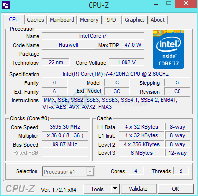 MSI Prestige PE60 2QE CPUZ 02