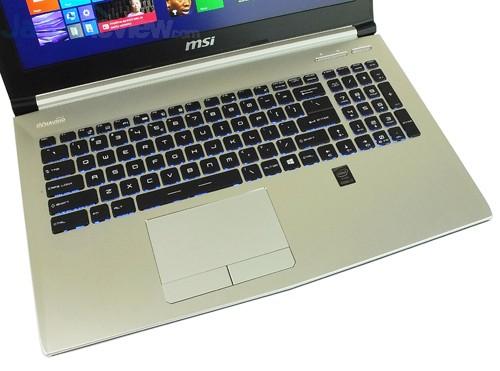 MSI Prestige PE60 2QE Keyboard & Touchpad