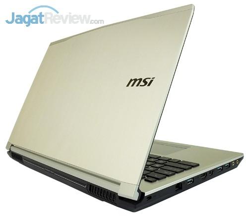 MSI Prestige PE60 2QE Rear Side