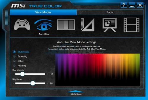 MSI Prestige PE60 2QE True Color 02