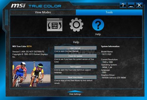 MSI Prestige PE60 2QE True Color 09