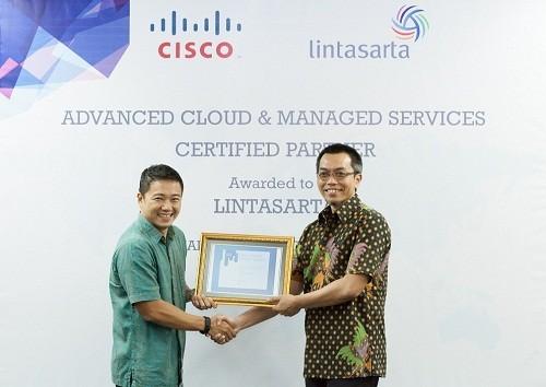 20151007 Lintasarta Menerima Sertifikat CMSP dari Cisco