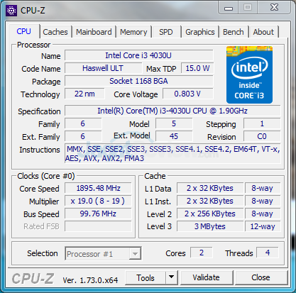 HP 260 G1 DM CPUZ