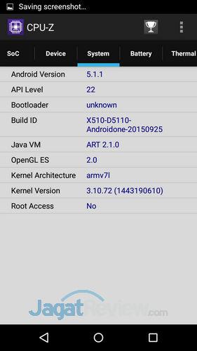 Infinix Hot 2 - CPUz OS