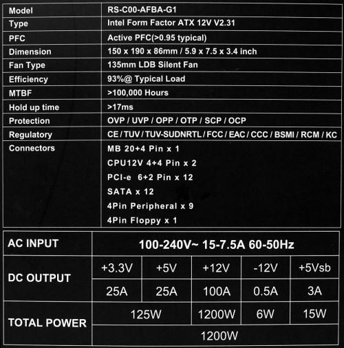 spek CM V1200