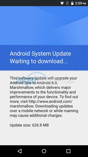 Infinix Hot 2 Update Notification v2