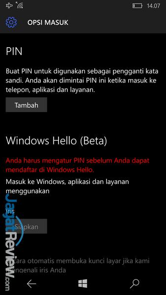 Lumia 950 - Windows Hello