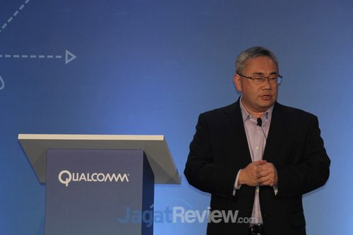 Terry Yen, Senior Director, Sales, Qualcomm Tehnologies, menjelaskan tantangan pemanfaatan jaringan untuk perangkat modern