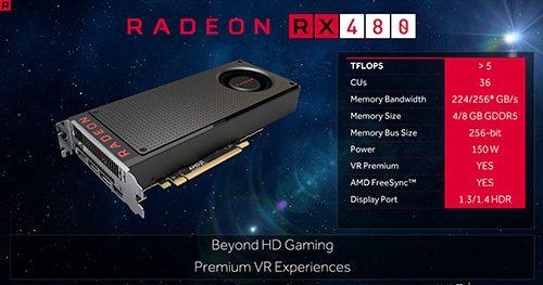 AMD Radeon RX 480 Slide