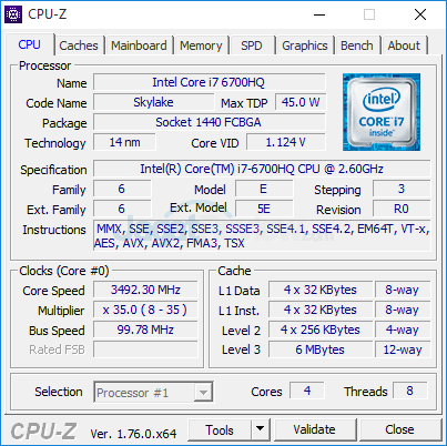 HP Pavilion Gaming 15-ak035tx CPUZ 01
