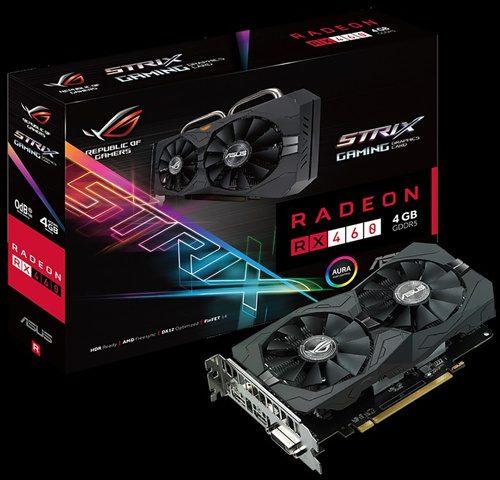 ASUS ROG Strix RX 460 4 GB Gaming 1220 MHz (OC Mode) 1200 MHz (Gaming Mode) 7000