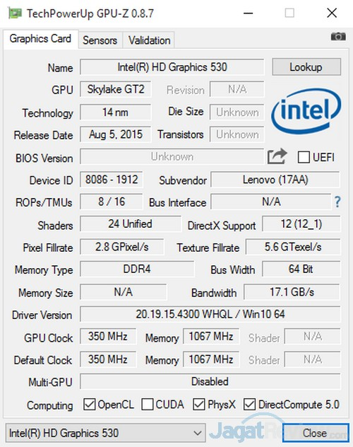 GPUZ Intel