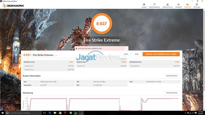 NVIDIA GTX 1080 (Notebook) 3DMFSE