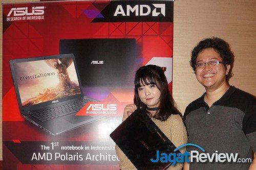 Alva, sempat meminjam unit laptop ASUS X550IU sebelum launch event