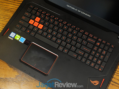 ASUS ROG STRIX GL702VM Keyboard & Touchpad