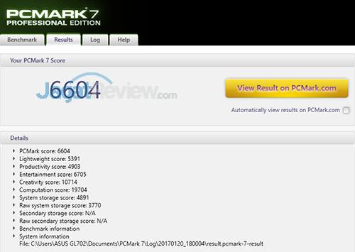 ASUS ROG STRIX GL702VM PCMark 7 Detail Score