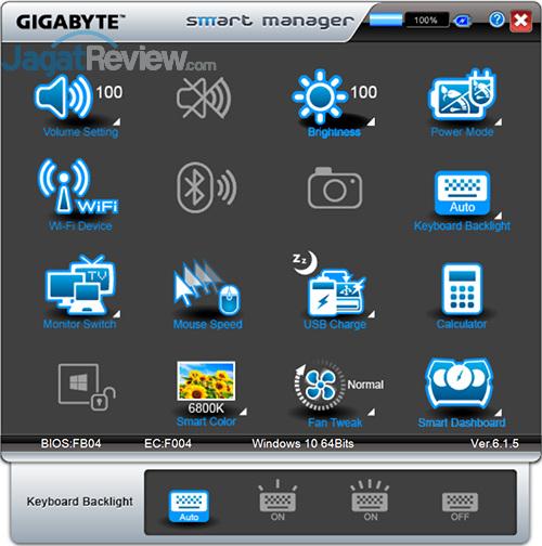 Gigabyte P35X v6 Smart Manager 12