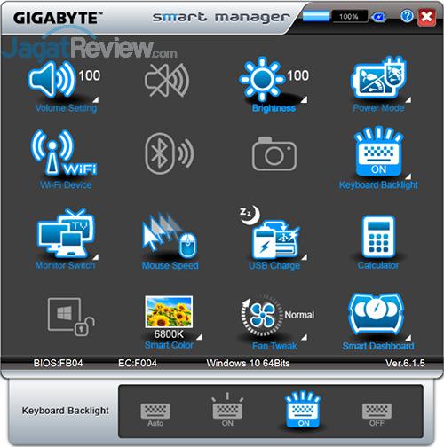 Gigabyte P35X v6 Smart Manager 14